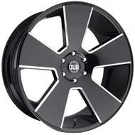 DUB Wheels Del Grande S230 <br/> Gloss Black Milled