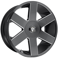DUB Wheels Baller Six S233 <br/> Gloss Black Milled