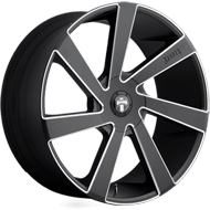 DUB Wheels Directa S133 <br />Black and Milled