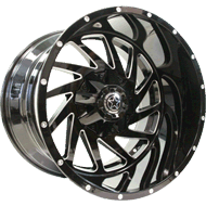 DWG Offroad <br/>DW13 Crusher Gloss Black Milled Wheels