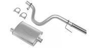 """DynoMax Single - 2.25"""" Cat-Back System - Super Turbo Muffler <br />1987-1995 Wrangler YJ 2.5L/4.0L"""
