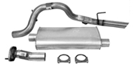 "DynoMax Single - 2.5"" Cat-Back System - Ultra Flo Welded Muffler <br />2002-2007 Liberty 2.8L/3.7L"