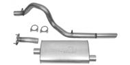 "DynoMax Single - 2.5"" Cat-Back System - Super Turbo Muffler <br />2004-2006 Wrangler Unlimited TJL 4.0L"