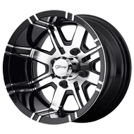 Fairway Alloys<br /> Aggressor Machined Gloss Black