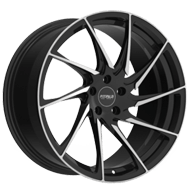 Fittipaldi Wheels <br/>FSF05MB Gloss Black with Machined Face Accents