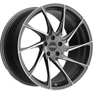 Fittipaldi Wheels <br/>FSF05MG Gloss Graphite with Machined Face Accents