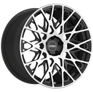 Fittipaldi Wheels <br/>FSF08MB Machined Face with Gloss Black Accents