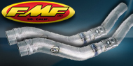 "<strong><font color=""#0084ff"">FMF Racing </font><font color=""#ffd504"">ATV Mid Pipes</font></strong>"