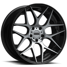 Fondmetal Wheels <br/>181MB STC-MS Gloss Black Machined