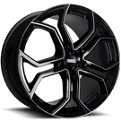Fondmetal Wheels <br/>185BM 9XR Gloss Black Milled