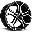 Fondmetal Wheels <br/>185MB 9XR Gloss Black Machined