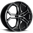 Fondmetal Wheels <br/>185MM 9XR Gloss Black with Full Milled Accents