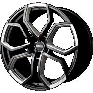 Fondmetal 185MM 9XR Gloss Black Full Milled Accents Wheels