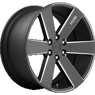 Foose F158 Switch Black Milled Wheels