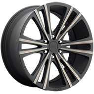 Foose F160 Wedge Black Machined Wheels