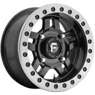 Fuel Wheels <br /> D917 Anza Beadlock Matte Black W/ Anthracite Ring