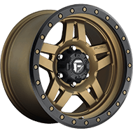 Fuel D583 Anza Matte Bronze W/ Black Ring Wheels