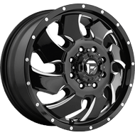 Fuel D574 Cleaver Dually Front Black Milled Wheels