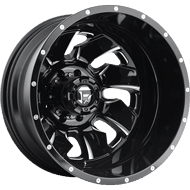 Fuel Wheels <br /> D574 Cleaver Dually Rear Black Milled
