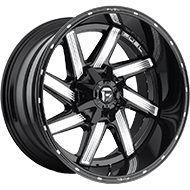 Fuel Wheels<br /> D242 Moab Gloss Black & Milled