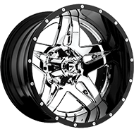 Fuel Wheels <br /> D253 Full Blown Chrome w/ Gloss Black Lip