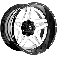 Fuel Wheels <br /> D255 Full Blown Gloss White Milled