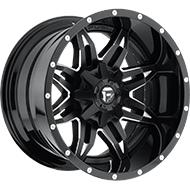 Fuel D267 Lethal Black Milled Finish Wheels