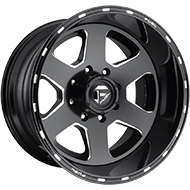 Fuel D271 Ripper Black Milled Matte Wheels