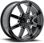Fuel Wheels <br /> D535 - Frontier Black Milled
