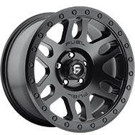 Fuel D584 Recoil Matte Black Wheels