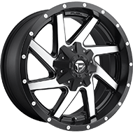 Fuel D593 Renegade Black Machined Wheels