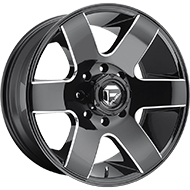 Fuel Wheels<br /> D602 Tank Black Milled Gls