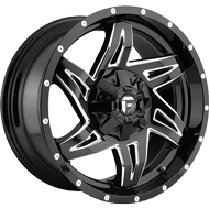 Fuel D613 Rocker Gloss Black and Milled Wheels