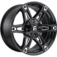 Fuel D622 Dakar Gloss Black Milled Wheels