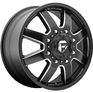 Fuel D538 Maverick Dually Front Black Milled Wheels