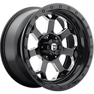 Fuel D563 Savage Gloss Black Milled Wheels