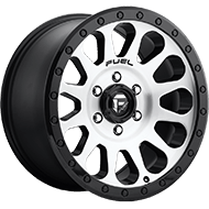Fuel Wheels <br /> D580 Vector Brushed Face - Black Windows - Back Ring