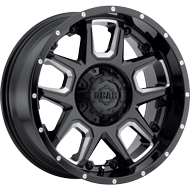 743BM Armor Wheels <br/>Gloss Black with CNC Milled Accents