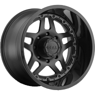 744B Drivetrain Wheels <br/>Satin Black Center with Gloss Black Lip