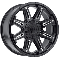 Gear Alloy 741BM Mechanic Gloss Black CNC Milled Accents Wheels