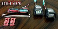 Recon Ultra High Power 3-Watt White LED License Plate Illumination Kit-Fits Chevy & GMC 07-13 (2nd Gen)