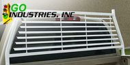 Go Industries<br /> Painted-Split Window Headache Racks White