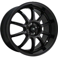 HD Wheels <br/>Clutch Satin Black Powdercoat