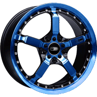 HD Wheels <br/>Cool Down Black with Transparent Blue Finish