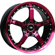 HD Wheels <br/>Cool Down Black with Transparent Pink Finish