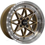 HD Wheels <br/>RS-L Gloss Gold with Machined Face & Lip