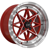 HD Wheels <br/>RS-L Gloss Red with Machined Face & Lip