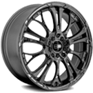 HD Wheels <br/>Spinout PVD Dark Chrome Finish
