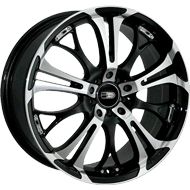 HD Wheels <br/>Spinout Gloss Black with Machined Face Finish