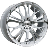 HD Wheels <br/>Spinout White with Machined Face Finish